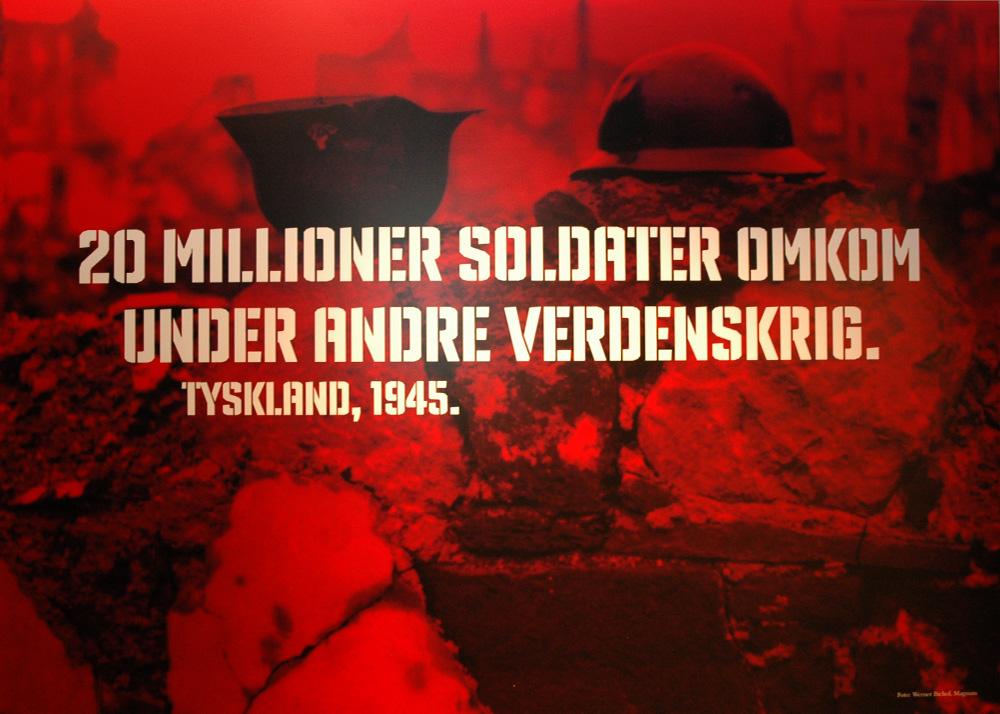 Plakat fra krigsutstillingen