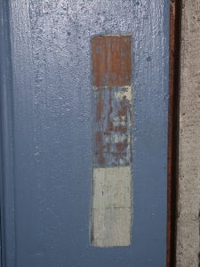 Historic paint analysis of the blue door
