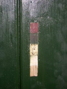 Historic paint analysis of a green door