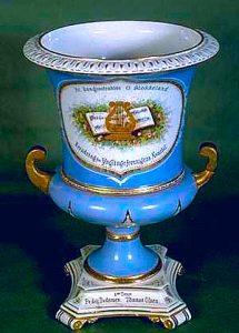 Vase med emaljedekor, 1886