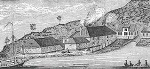 Illustrasjon - Egersund potteri i 1860-årene.