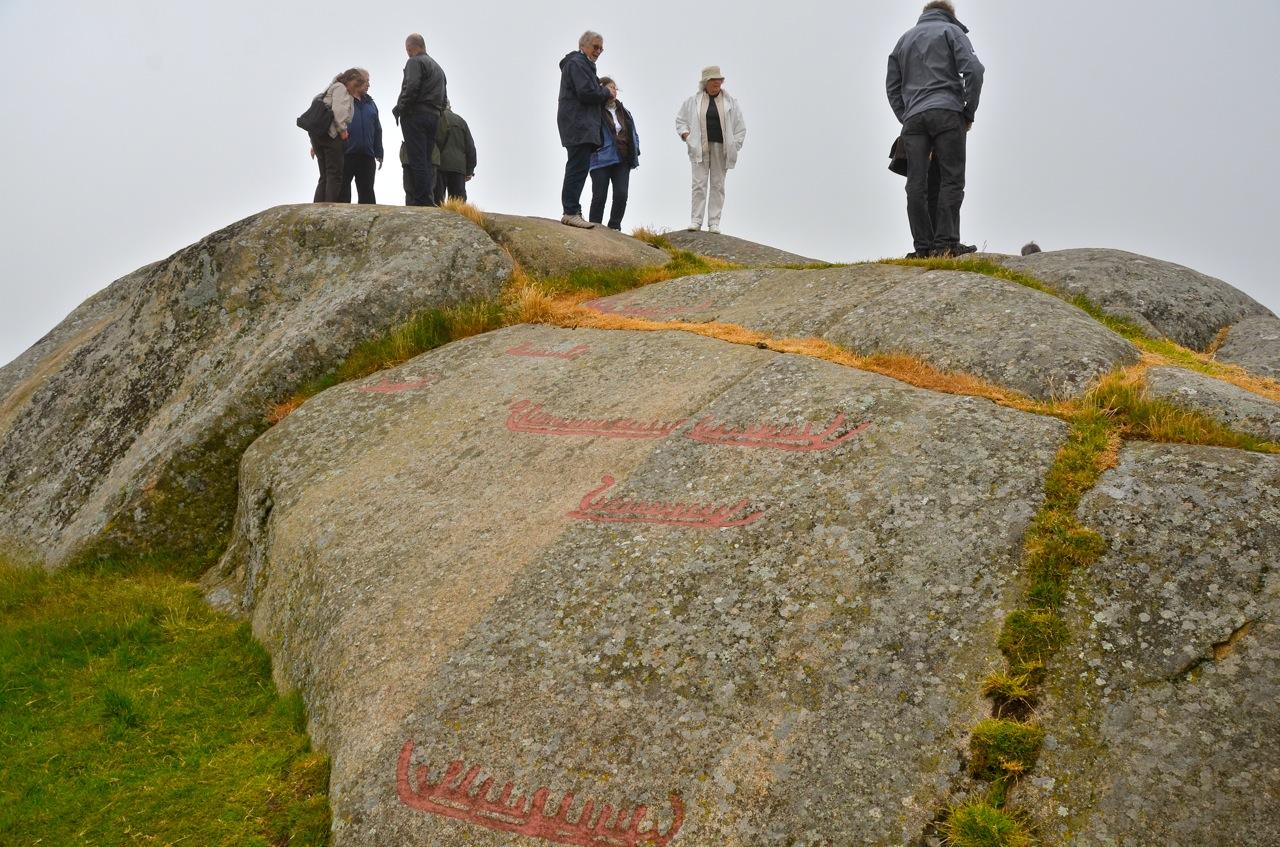 Helleristningene på Penne er verd et besøk. Foto: Torbjørn Bøe.