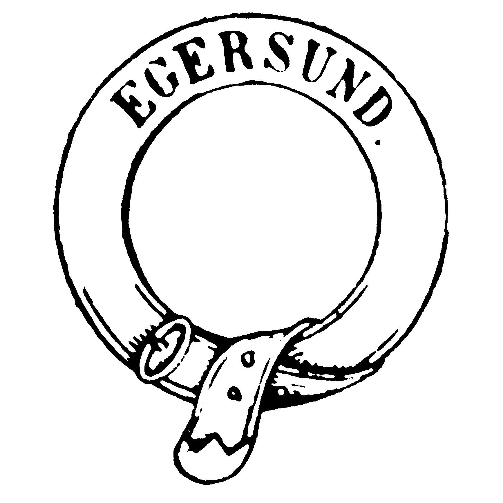 Stempel fra A/S Egersunds Fayancefabriks Co. cirka 1872-1876