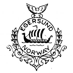 Stempel fra A/S Egersunds Fayancefabriks Co. cirka 1963-1969