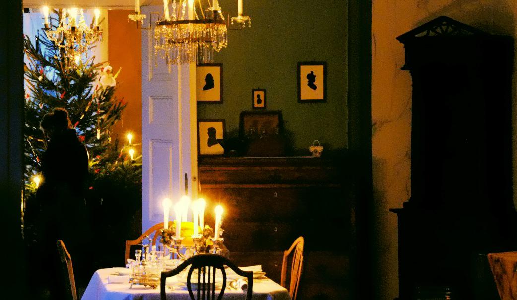 Jul i hovedhuset på Slettebø